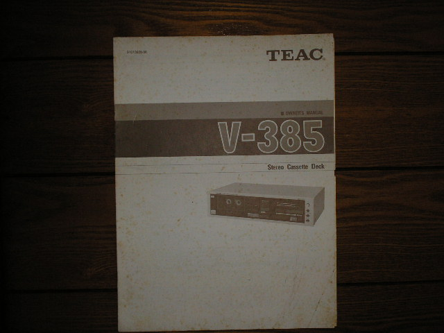 V-385 Cassette Deck Owners Manual