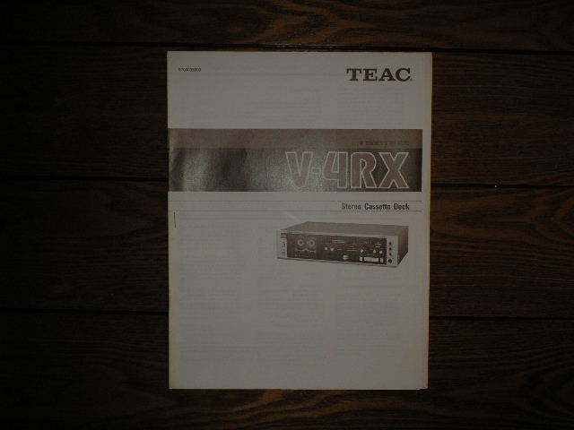 V-4RX Cassette Deck Owners Manual
