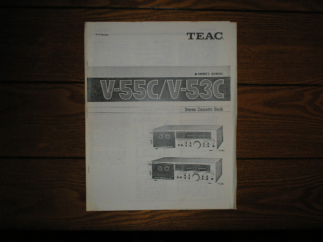V-53C V-55C Cassette Deck Owners Manual
