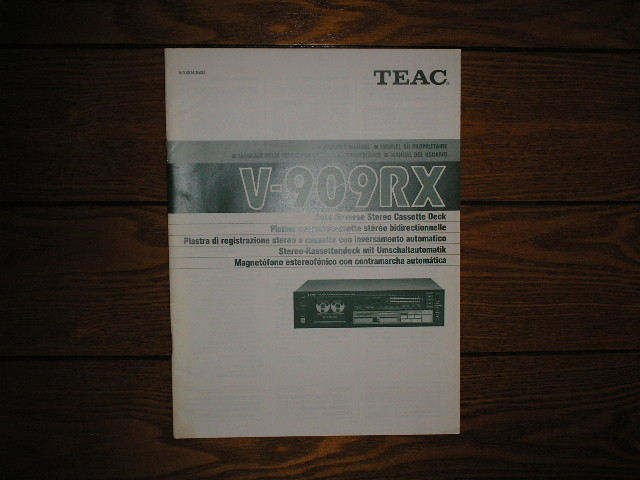 V-909RX Cassette Deck Owners Manual