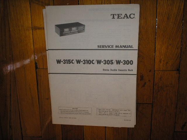 W-300 W-305 W-310C W-315C Cassette Deck Service Manual