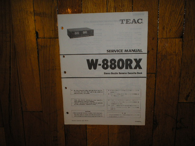 W-880RX Cassette Deck Service Manual