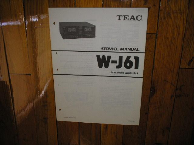 W-J61 Cassette Deck Service Manual