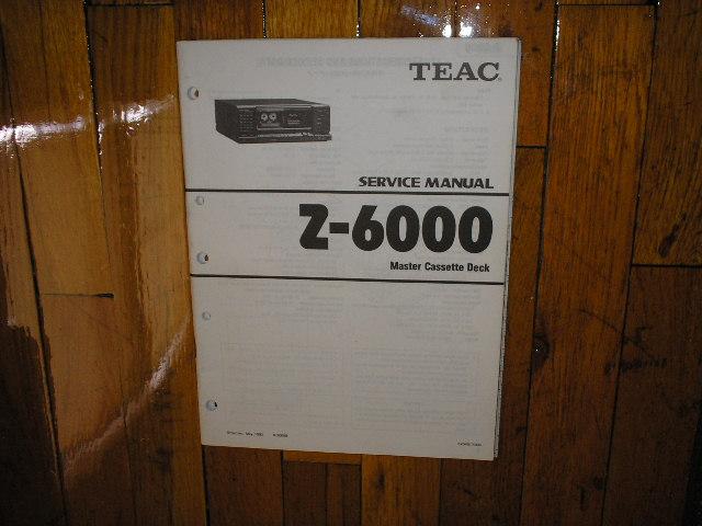 Z-6000 Master Cassette Deck Service Manual