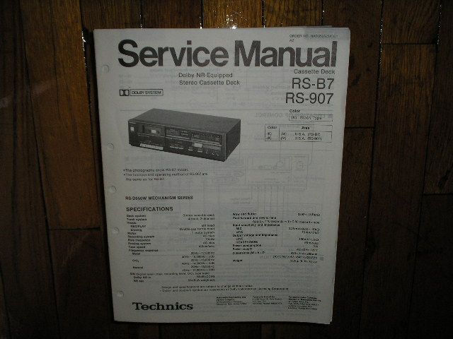 RS-907 RS-B7 Cassette Deck Service Manual