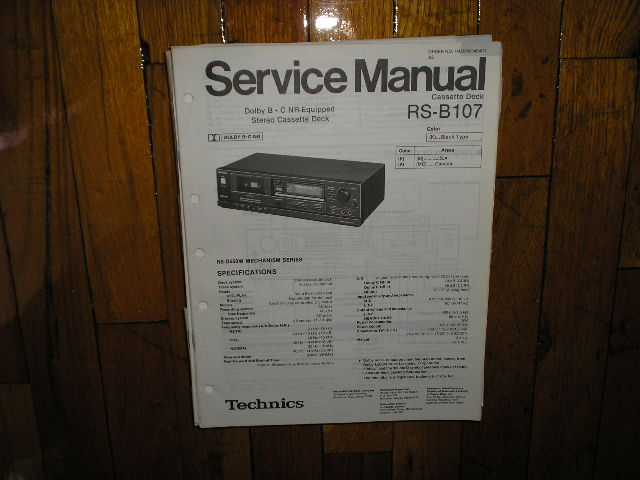 RS-B107 Cassette Deck Service Manual