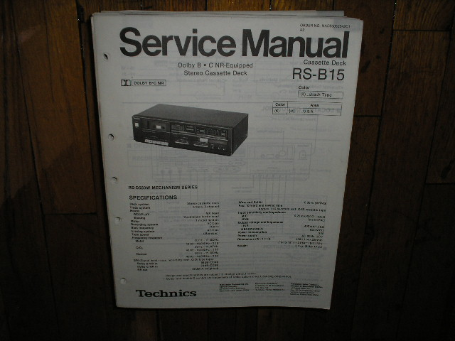 RS-B15 Cassette Deck Service Manual