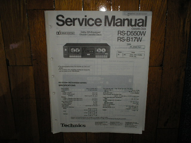 RS-D550W Cassette Deck Service Manual. Black Version