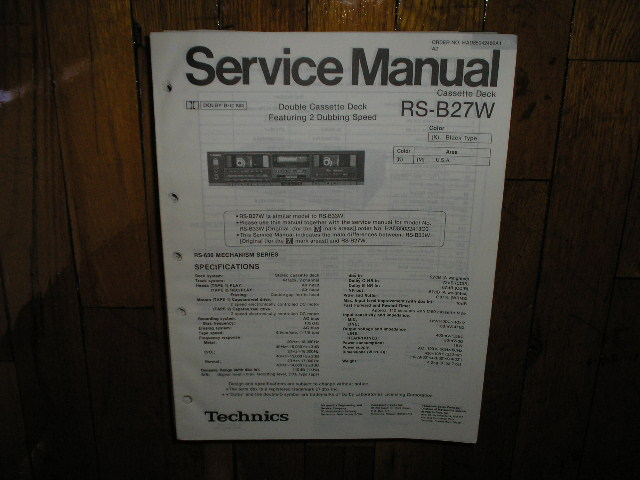 RS-B27W Cassette Deck Service Manual
