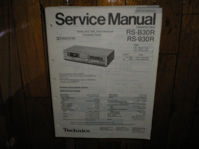RS-B30 RS-930 Cassette Deck Service Manual