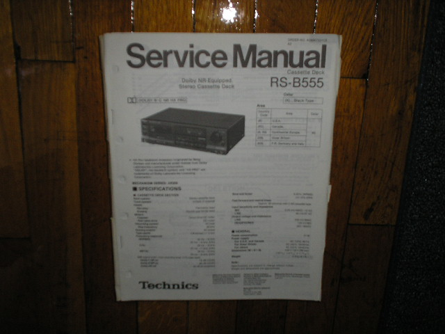 RS-B555 Cassette Deck Service Manual