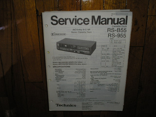 RS-B55 RS-955 Cassette Deck Service Manual