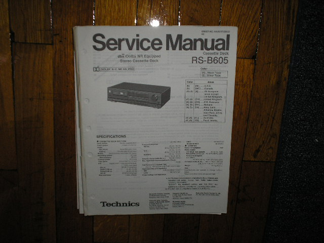 RS-B605 Cassette Deck Service Manual