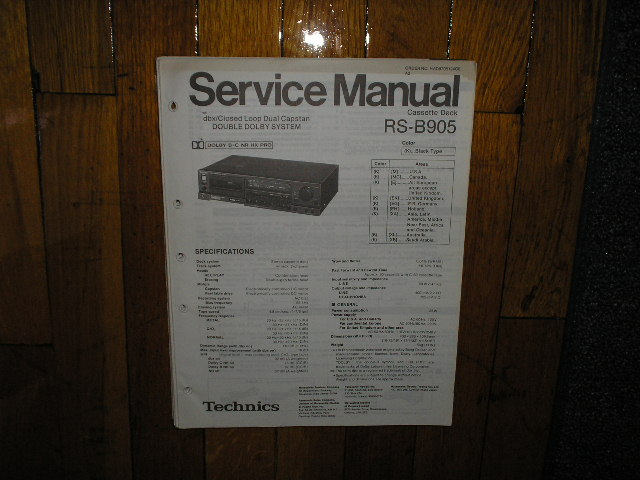 RS-B905 Cassette Deck Service Manual