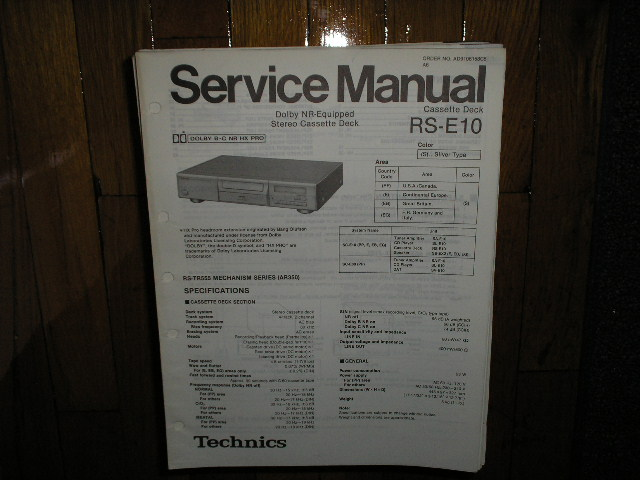RS-E10 Cassette Deck Service Manual