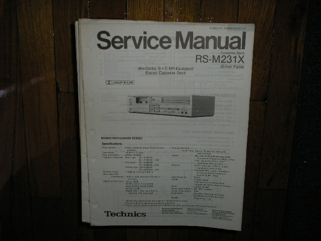 RS-M231X Cassette Deck Service Manual