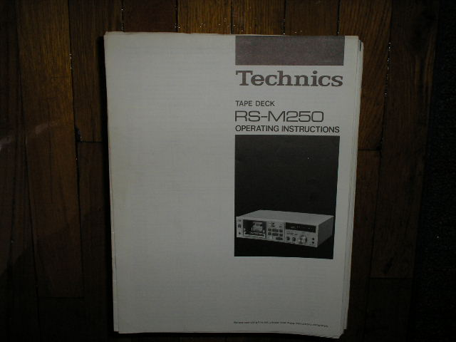 RS-M250 Cassette Deck Operating Instruction Manual