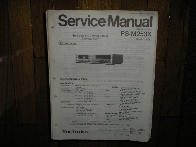 RS-M253X Cassette Deck Service Manual