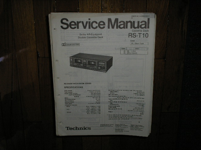 RS-T10 Cassette Deck Service Manual
