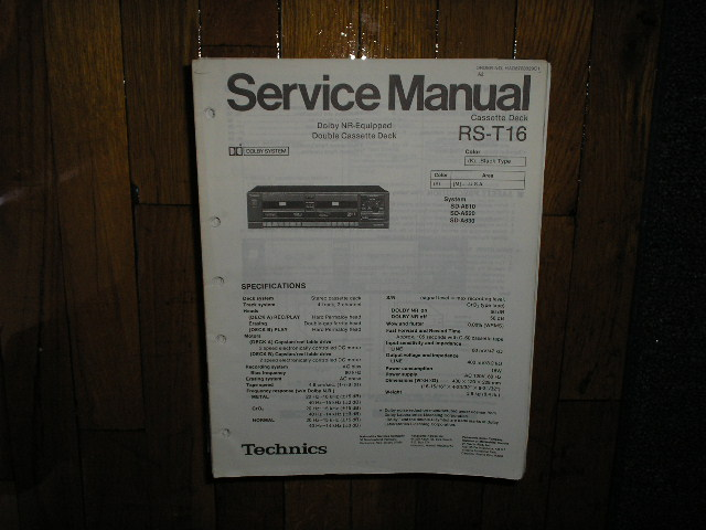 RS-T16 Cassette Deck Service Manual