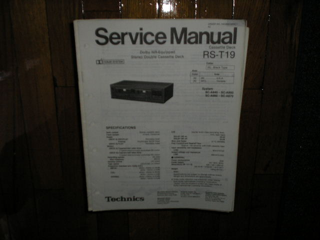 RS-T19 Cassette Deck Service Manual