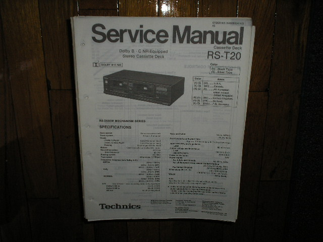 RS-T20 Cassette Deck Service Manual