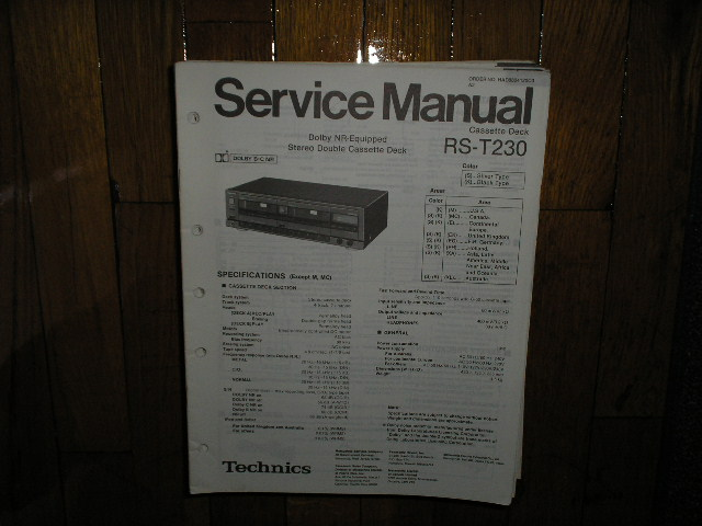 RS-T230 Cassette Deck Service Manual