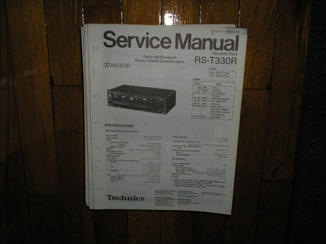 RS-T330 Cassette Deck Service Manual