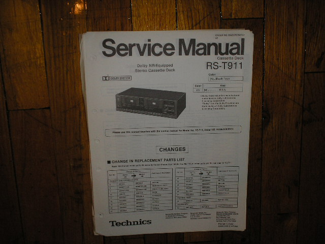 RS-T911 Cassette Deck Service Manual