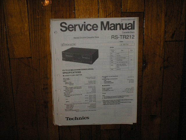 RS-TR212 Cassette Deck Service Manual