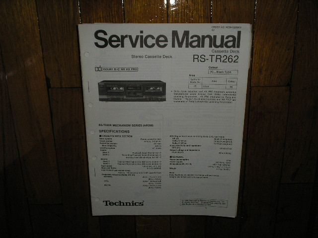 RS-TR262 Cassette Deck Service Manual