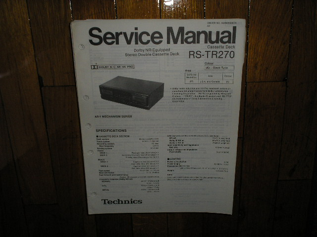 RS-TR270 Cassette Deck Service Manual