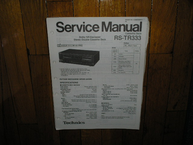 RS-TR333 Cassette Deck Service Manual