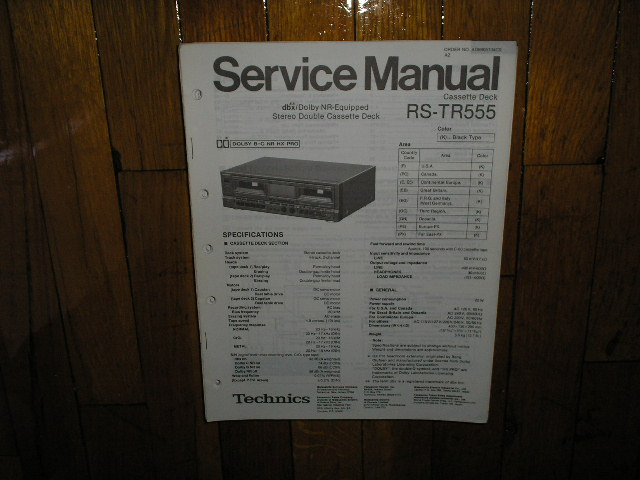 RS-TR555 Cassette Deck Service Manual