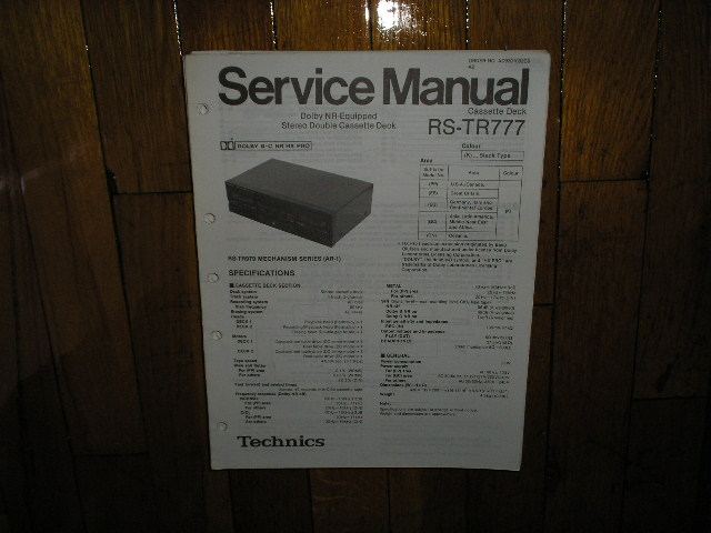 RS-TR777 Cassette Deck Service Manual
