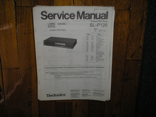 SL-P120 CD Player Service Manual