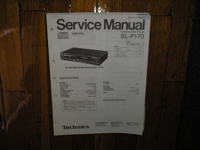SL-P170 CD Player Service Manual