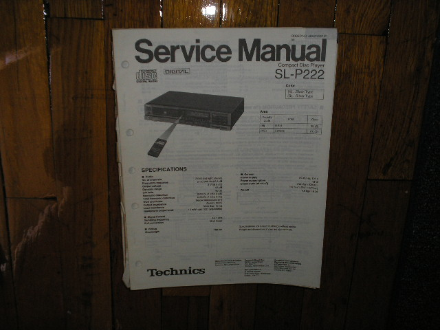 SL-P222 CD Player Service Manual