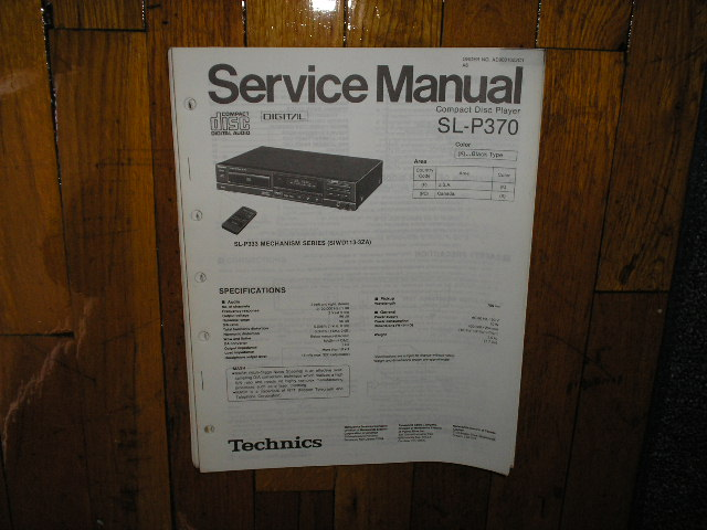 SL-P370 CD Player Service Manual