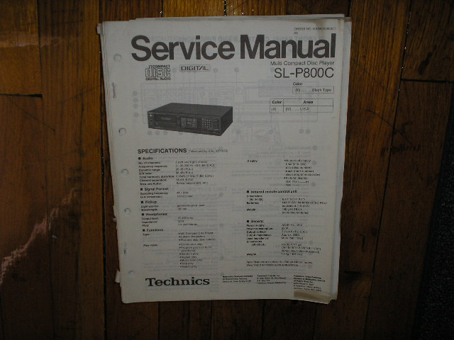 SL-P800C CD Player Service Manual