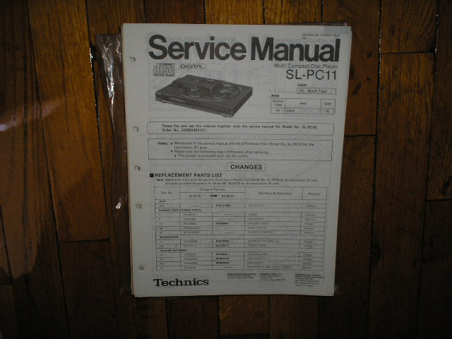 SL-PC11 CD Player Service Manual