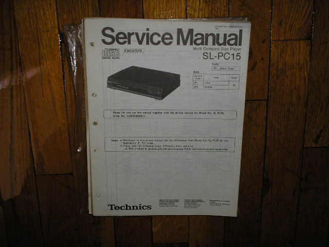 SL-PC15 CD Player Service Manual