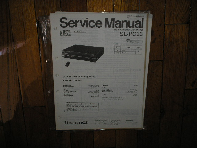 SL-PC33 CD Player Service Manual
