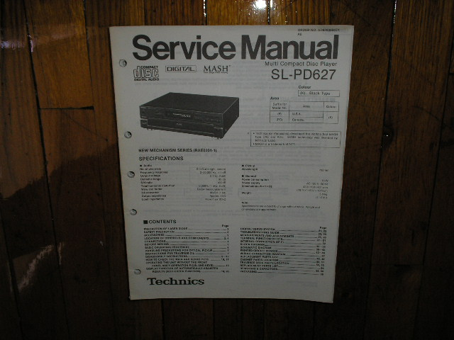 SL-PD627 CD Player Service Manual