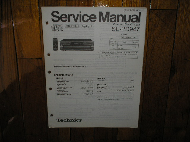 SL-PD947 CD Player Service Manual