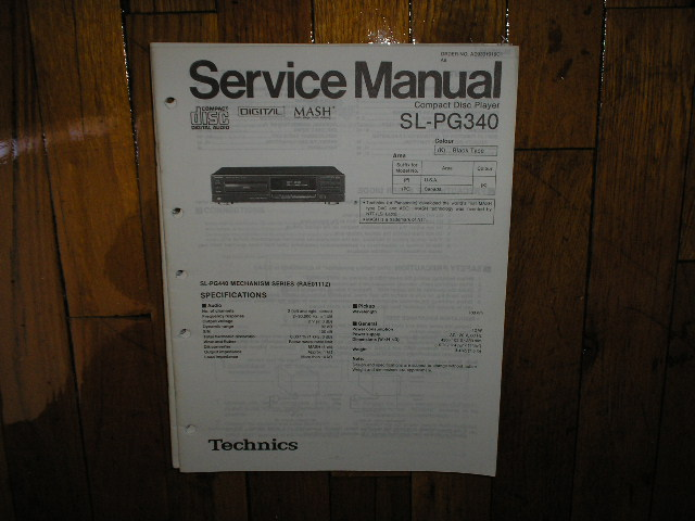 SL-PG340 CD Player Service Manual