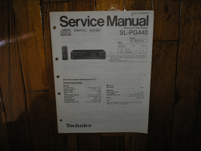 SL-PG440 CD Player Service Manual