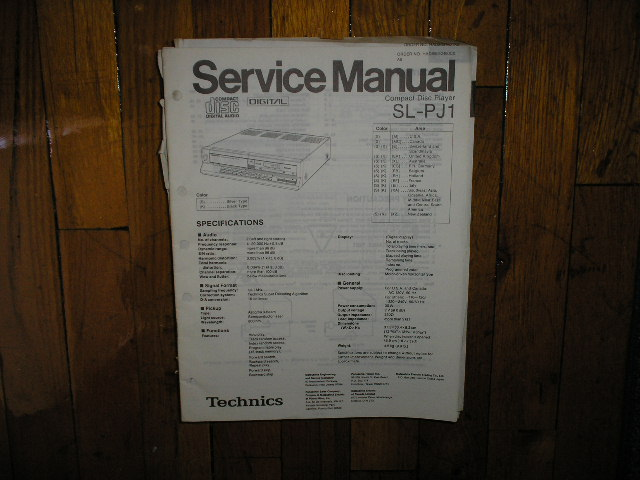 SL-PJ1 CD Player Service Manual