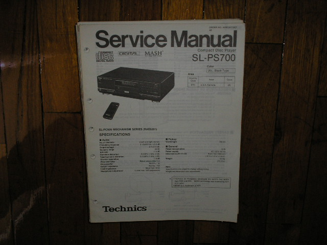 SL-PS700 CD Player Service Manual