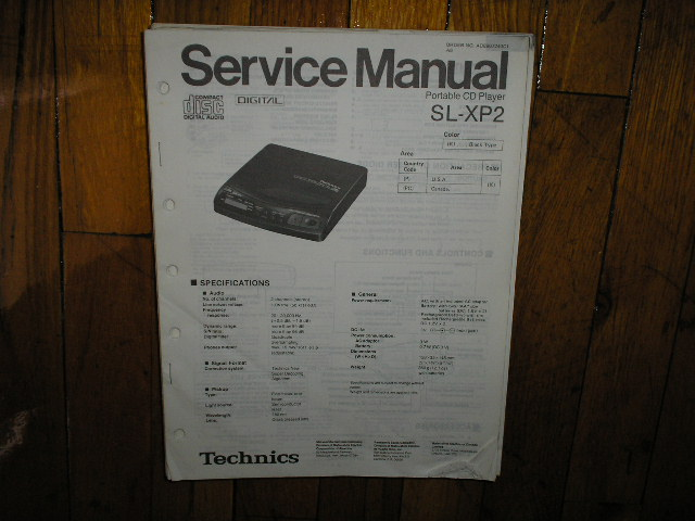 SL-XP2 Portable CD Player Service Manual